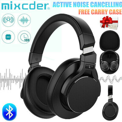 Mixcder Bluetooth Wireless Headphone Active Noise Cancelling Over Ear Super Bass