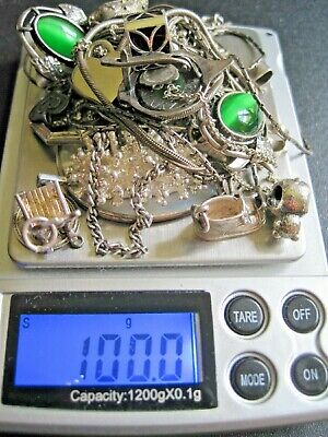 Job lot  Vintage  & Used Scrap/resale/Wear/ 925 Sterling Silver Jewellery 100g