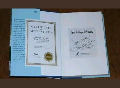 Olivia Newton John Full Name Signed 1St Ed H/C Book Don't Stop Believin With Coa