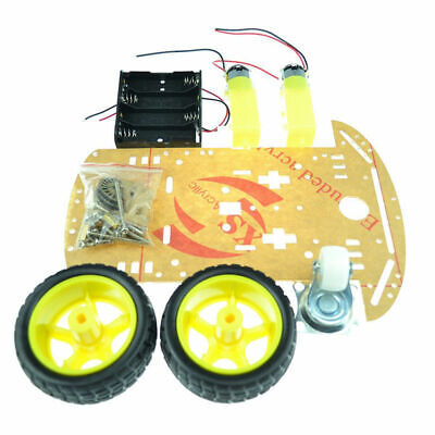 Set Chassis Kit Pack 2WD Smart Robot Speed Encoder Battery Wheel Replacement