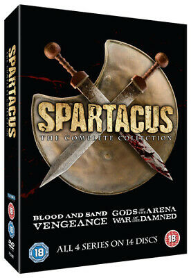 Spartacus: The Complete Collection DVD (2015) Andy Whitfield cert 18 14 discs