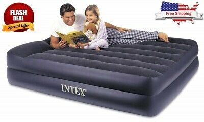 Airbed With Electric Pump Polyresin And Vinyl Queen Size Camping Outdoor Beach