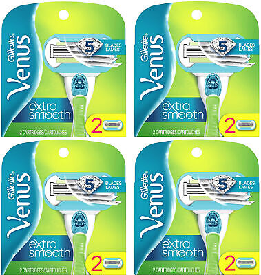 Gillette Venus Extra Smooth 5 Blade Cartridge Refill, 8 Count