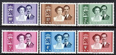 (029)     Luxembourg 1953 Wedding Set SG563-68 M/Mint