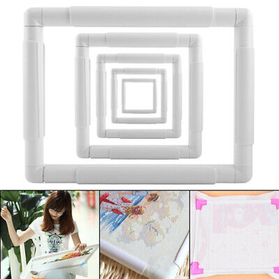 Plastic Square Rectangular Embroidery Snap Frame Sewing Tool For Cross Stitching