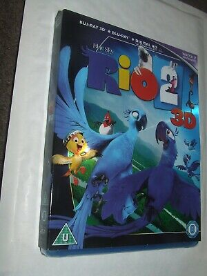 RIO 2    3D + 2D  BLU RAY NEW & SEALED  with Slip Cover