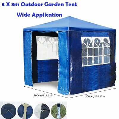 3x3m Gazebo Marquee Waterproof Outdoor Canopy Party Tent Garden Tent W/ side