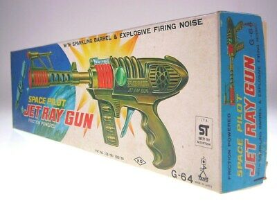 "GSGUN ""SPACE PILOT JET RAY GUN""  KO, 40cm, PLASTIC, FR OK, LIKE NEWnORIGINAL BOX"