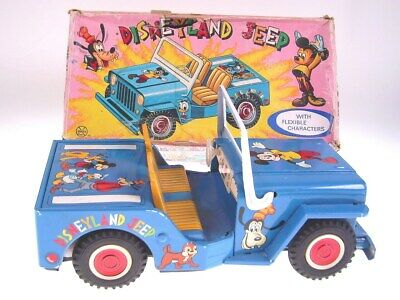"GSCOM  ""DISNEYLAND JEEP"" MARX,1960s, NEUWERTIG/NEARLY NEW IN BAD BOX"