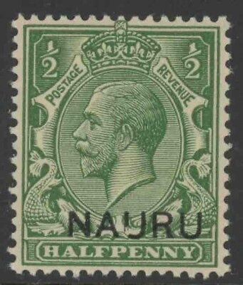 "Nauru, Mint #1, ""Broken U"",  Og Nh, Great Centering"