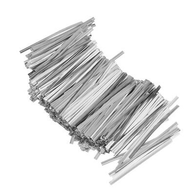 Wholesale 800pcs Twist Ties Silver Metallic Twist Ties For Gift Wrapping