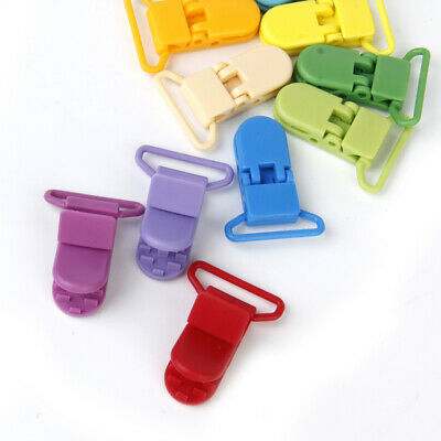 """10 KAM Plastic Pacifier Clips Soother Dummy Bib Suspender Paci Toy Holder 1"""""""
