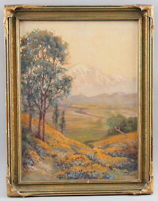 JD Frye American Impressionist Mountain Landscape Oil Painting Arts Crafts Frame