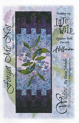 Forget Me Not - Quilting Table Runner  Pattern by Wildfire Designs Alaska