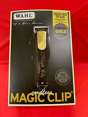 Wahl Black & Gold Magic Clip Cordless Clipper 5 Star Series Limited Edition
