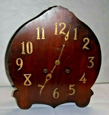 Antique National Clock Co. Chicago Mission Oak Mantle Shelf Chime Clock Working