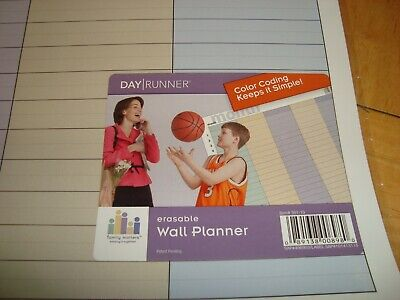 Day Runner 2 Sided Laminated Erasable Month Wall Calendar-Family Planner 17x24""