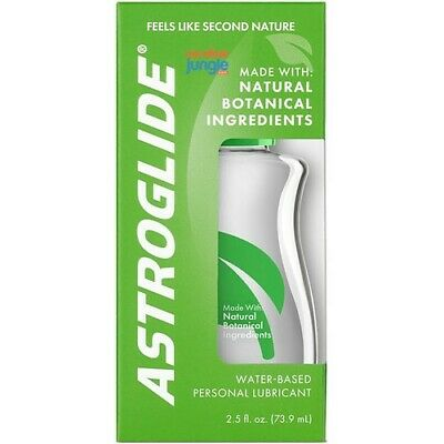 Astroglide Natural Feel Liquid 2.5 oz - Water Based Personal Lubricant+gift!