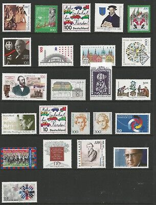 Germany 1997 Commemorative Selection (23),  Mnh**