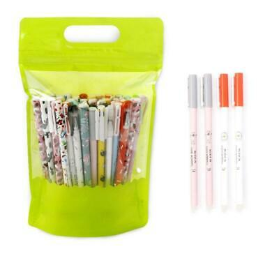 20pcs Ink Erasable Pens 0.5mm Full Needle Refill Student Stationery Writing Pen