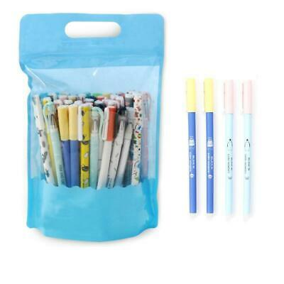 20pcs Stationery Writing Pen Ink Erasable Pens 0.5mm Full Needle Refill Student