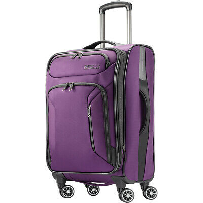 """American Tourister Zoom 21"""" Expandable Carry-On Spinner Softside Carry-On NEW"""