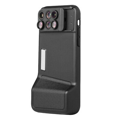 6 in 1 Wide Angle Macro Fish Eye Telephoto Phone Lens Case for iPhone X