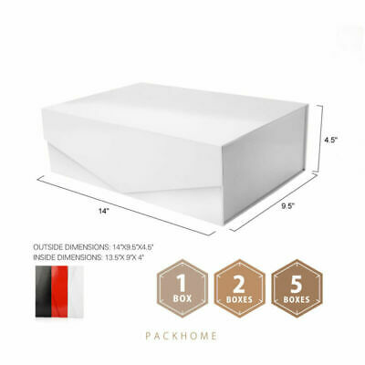 Packhome Large Gift Box 14x9 5x4 5 Inches Sturdy Gift Box Reusable