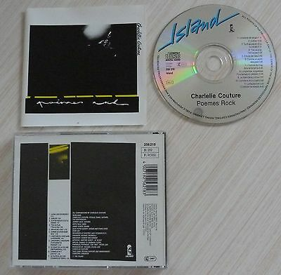 Cd Album Poemes Rock- Couture Charlelie 11 Titres 1981