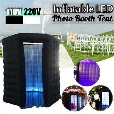 3M Inflatable LED Light Photo Booth Tent With Air Pump Wedding & Birthday  new