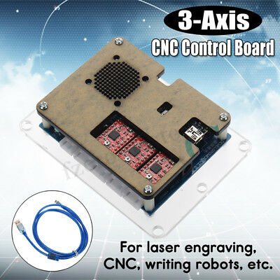 DIY 3-Axis GRBL Control Board USB for CNC Milling Laser Engraver Machine Parts