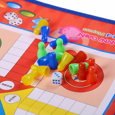 Indoor/Outdoor Giant Ludo Board Game Traditional Play Mat Kids Fun activity Toy