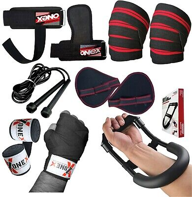 Gym Weight Lifting Training Hand Wraps/Quick/Wraps/Skipping rope/Grip+Knee Pads