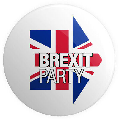 The Brexit Party BUTTON PIN BADGE 25mm 1 INCH UK Politics Nigel Farage v2