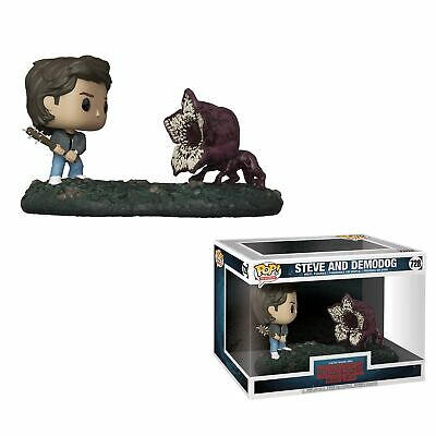 "Stranger Things Steve and Demodog 8.5"" Vinyl POP! Figures Toy #728 FUNKO MIB"