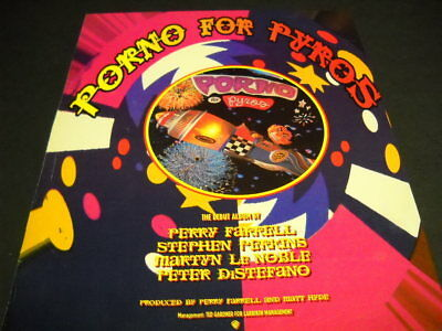 PORNO FOR PYROS 1993 Promo Poster Ad PERRY FARRELL Stephen Perkins others