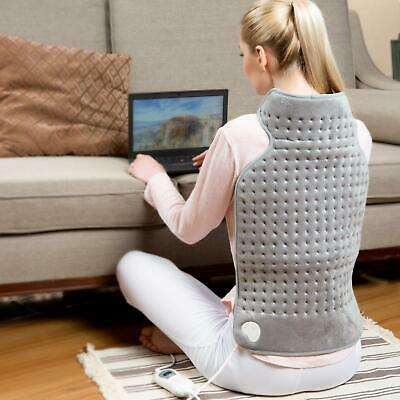 Heating Pad Back Pain Relief Electric Neck Shoulder Hot 6 Settings