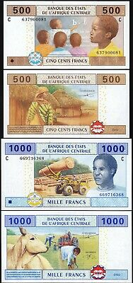 CENTRAL AFRICAN STATES CONGO REP 500 F 2002 UNC CONSECUTIVE 5 PCS LOT P-106T