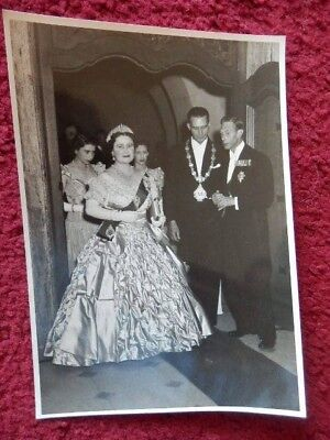 King George Vi -  Queen Elizabeth - South Africa - Original Photo - 1947