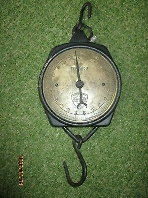 Antike SALTER Feder Zugwaage 20Kg-100g MADE IN ENGLAND No.235