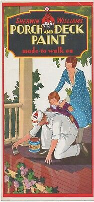 c1941 Sherwin Williams Color Samples For Porch And Deck Paint S-W Rexpar Varnish
