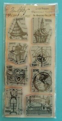 New TIM HOLTZ - STAMPERS ANONYMOUS  BLUEPRINTS 1 Cling Stamps
