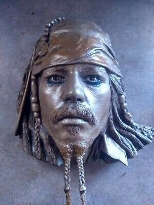LIMITED EDITION 61/1000 Life Mask Johnny Depp as Jack Sparrow with Certificate