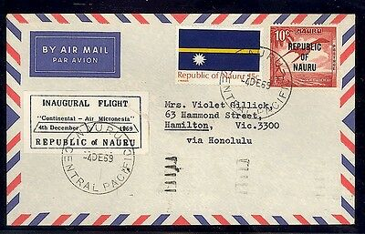 Nauru Cover - Ffc To Victoria, Very Scarce