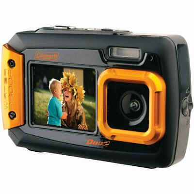 Coleman 2V9WP-O Duo2 Dual-Screen Waterproof Digital Camera 20.0 MP - Orange