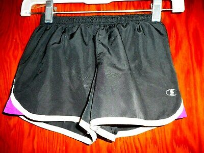 Champion Gear Girls Black Running Shorts Size Xs