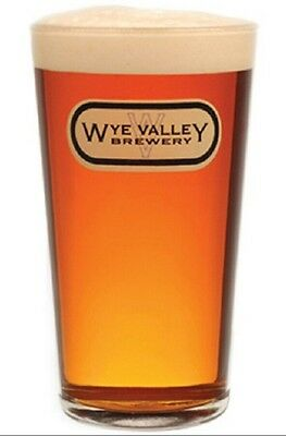 Wye Valley brewery ale beer Pint Glass birthday fathers day  gift free uk p/&p