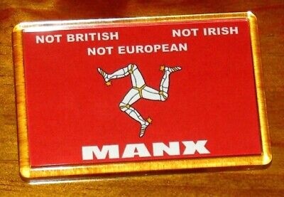 Isle of Man patriotic Manx flag fridge magnet