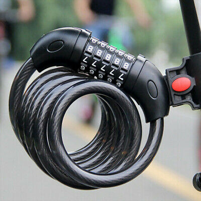 a5e8d86077d 120Cm Bicycle Bike 5 Digit Code Combination Lock Long Spiral Steel Cable  Secrure