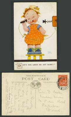 MABEL LUCIE ATTWELL 1932 Old Postcard Telephone Don't You Like Me Any More? 1890